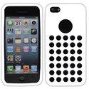 SILTROUIP5CBLANC - Housse Coque Silicone Blanc à trous pour iPhone 5C