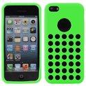 SILTROUIP5CVERT - Housse Coque Silicone Vert à trous pour iPhone 5C