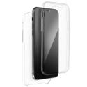 SKIN360-IP12MINI - Coque Avant + Arrière 360° iPhone 12 Mini 2 parties avant souple flexible et dos transparent