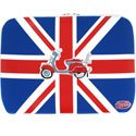 SLEEVEUK7VESPA - Housse de transport Union Jack Vespa de 7 � 9 pouces