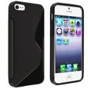 SLINE-IP5S-NOIR - Coque souple iPhone SE et 5s SLine coloris noir enveloppantes cotés anti-glisse