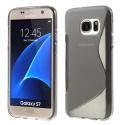SLINE-S7FUME - Coque souple Galaxy S7 motif S-Line gris fumé