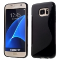 SLINE-S7NOIR - Coque souple Galaxy S7 motif S-Line noir