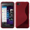 SLINE-Z10ROUGE - Coque souple S-Line pour Blackberry Z10 coloris rouge