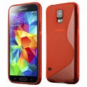 SLINEROUGES5 - Coque Housse S-Line rouge Samsung Galaxy S5