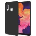 SMOOTH-A40NOIR - Coque souple Galaxy A40 en silicone noir mat