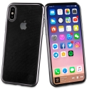 SOFTBRUSH-IPXNOIR - Coque souple iPhone X contour noir dos transparent