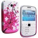 SOFTY01-8520 - Housse SoftyGel Flower pour Blackberry 8520