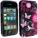 SOFTY03-IP4 - Housse SoftyGel Flower pour iPhone 4
