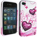 SOFTY04-IP4 - Housse SoftyGel Flower pour iPhone 4