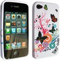 SOFTY05-IP4 - Housse SoftyGel Flower pour iPhone 4