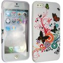 SOFTY05-IP5 - Housse SoftyGel Flower pour iPhone 5