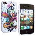 SOFTY07-IP4 - Housse SoftyGel Flower pour iPhone 4