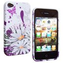 SOFTY09-IP4 - Housse SoftyGel Flower pour iPhone 4