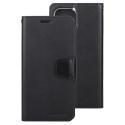 SONATA-IP12MININOIR - Etui folio Mercury Sonata iPhone 12 Mini rabat latéral noir patte aimantée
