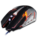 SOURIS-IMICE-V8NOIR - Souris Gaming USB filaire iMice V8 effets lumineux