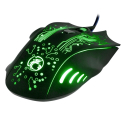 SOURIS-IMICE-X9VERT - Souris Gaming USB filaire iMice X9 effets lumineux