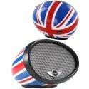 SPEAKMINIUKCOULEUR - Enceinte sans fil bluetooth NFC Boombox Mini motif UK rétroviseur