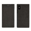 SSFLS0001-IPXANTHRA - Etui iPhone X/Xs SoSeven Premium Gentleman Book Case Fabric anthracite
