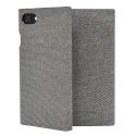 SSFLS0006-IP678GRIS - Etui iPhone 6/7/8 SoSeven Premium Gentleman Book Case Fabric gris