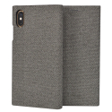 SSFLS0008-IPXSMAXGRIS - Etui iPhone XS MAX SoSeven Premium Gentleman Book Case Fabric gris