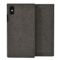 SSFLS0010-IPXSMAXANTHRA - Etui iPhone XS MAX SoSeven Premium Gentleman Book Case Fabric anthracite