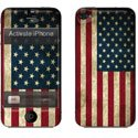 STICKIP4_US - Set de Stickers pour Apple iPhone 4 Skin Kit Thème Drapeau USA