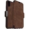 STRADA-IPXSMARRON - Etui folio iPhone XS Otterbox gamme Strada coloris cuir marron