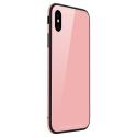 SULADAGLASS-IPXRROSE - Coque antichoc Sulada iPhone XR avec dos en verre trempé rose