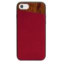 SVNCSCABDIP7 - Coque So-Seven Paris pour iPhone 7/8/SE 2020 effet bois et cuir bordeaux