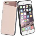 SVNCSMPU2IP7 - Coque So-Seven Paris pour iPhone 7/8 effet métal et cuir rose