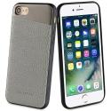 SVNCSMPU3IP7 - Coque So-Seven Paris pour iPhone 7/8 effet métal et cuir gris