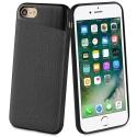 SVNCSMPU5IP7 - Coque So-Seven Paris pour iPhone 7/8 effet métal et cuir noir