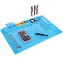 TAPIS-ESD55X35 - Tapis de travail anti-statique avec rangements outils et visserie
