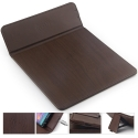 TAPIS-QIMARRON - Tapis de souris et charge induction sans fil norme Qi coloris marron