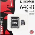 TF64GKING - Carte mémoire Kingston MicroSDXC 64 Go Classe 10 avec adaptateur SD