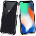 TGBKC0014-IPXS - Coque antichoc iPhone X/XS Tiger 3M de Muvit noire et transparente