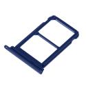 TIROIR-P20PROBLEU - Tiroir Huawei P20 PRO pour carte Nano-SIM et microSD coloris bleu