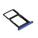 TIROIR-PSMARTZBLEU - Tiroir Huawei P-Smart Z pour carte Nano-SIM et microSD coloris bleu