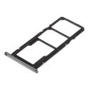TIROIR-Y62018NOIR - Tiroir Huawei Y6-2018 pour carte Nano-SIM et microSD coloris noir