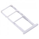 TIROIR-Y6PGRIS - Tiroir Huawei Y6p pour carte Nano-SIM et microSD coloris gris silver