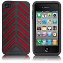 HTORQUE-IPHONE4-RED - Housse Case-Mate Torque bandes rouges pour iPhone 4