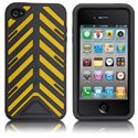 HTORQUE-IPHONE4-JA - Housse Case-Mate Torque bandes jaunes pour iPhone 4