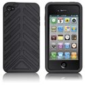 HTORQUE-IPHONE4-NO - Housse Case-Mate Torque bandes noires pour iPhone 4