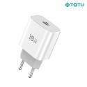 TOTU-CHARGEUR18WUSBC - Chargeur secteur PD18W de Totu USB-C 18W