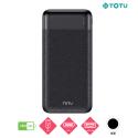 TOTU-CPBN-036 - Batterie PowerBank TOTU de 20.000 mAh noire USB-C et Micro-USB