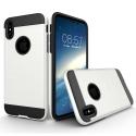 TOUGHARMOR-IPXBLANC - Coque renforcée iPhone hybride antichoc coloris noir et blanc