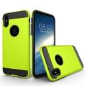 TOUGHARMOR-IPXCITRON - Coque renforcée iPhone hybride antichoc coloris noir et citron vert