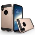 TOUGHARMOR-IPXGOLD - Coque renforcée iPhone hybride antichoc coloris noir et gold