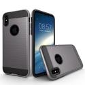 TOUGHARMOR-IPXGRIS - Coque renforcée iPhone hybride antichoc coloris noir et gris